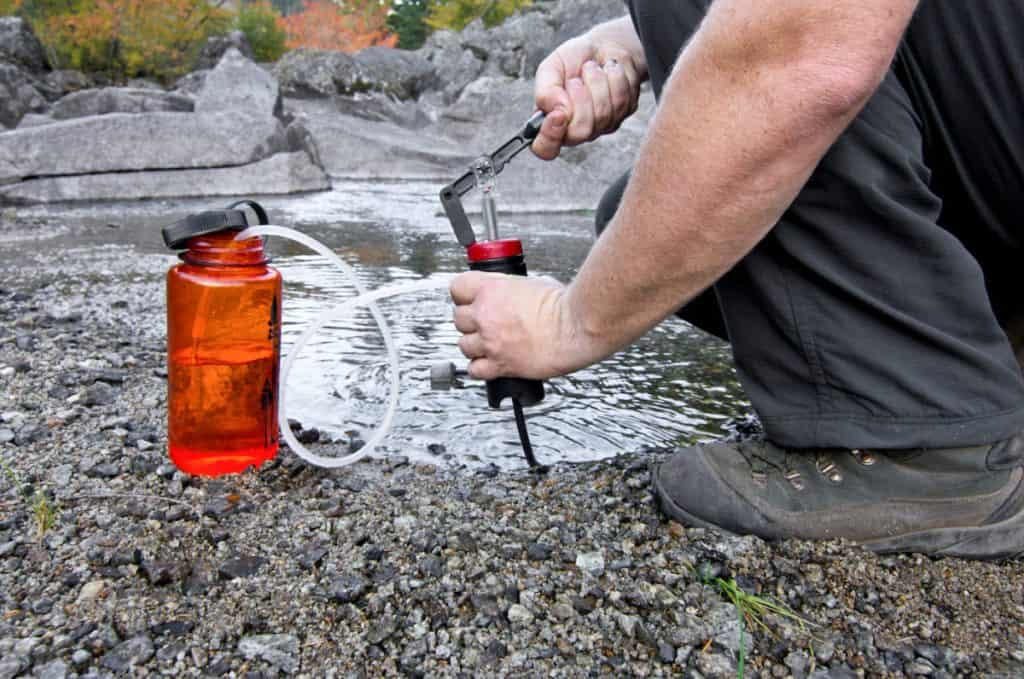 Mountain Climbing water purification